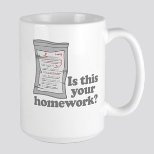 Your Homework Larry Large Mug