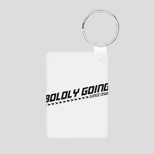 Boldly Going Aluminum Photo Keychain