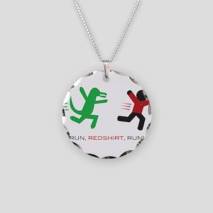 Run, Redshirt, Run! Necklace Circle Charm