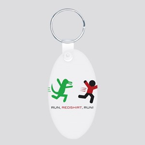 Run, Redshirt, Run! Aluminum Oval Keychain