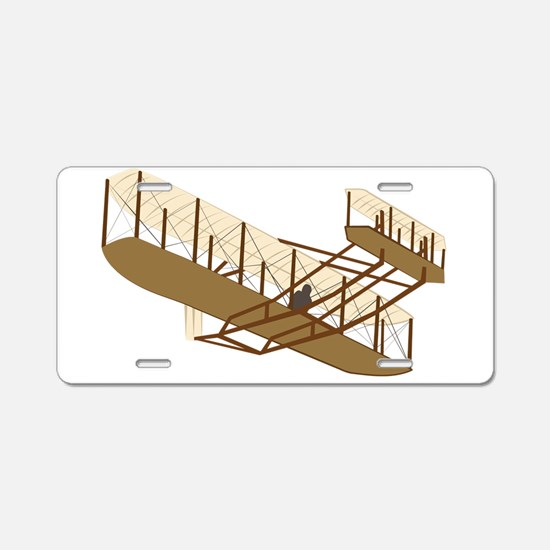 Wright Flyer Aluminum License Plate