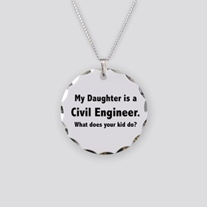 Civil Engineer Daughter Necklace Circle Charm