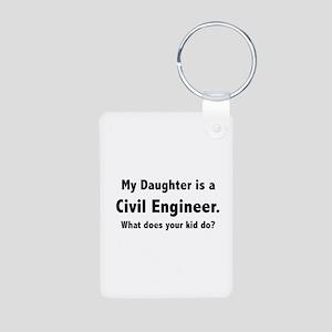 Civil Engineer Daughter Aluminum Photo Keychain