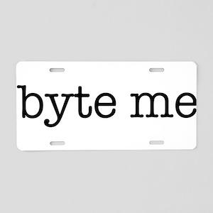 Byte Me Aluminum License Plate