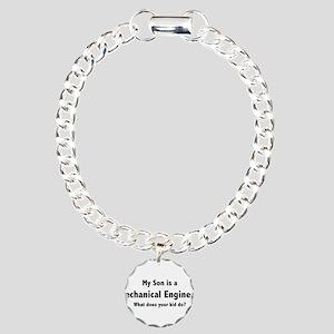 Mechanical Engineer Son Charm Bracelet, One Charm