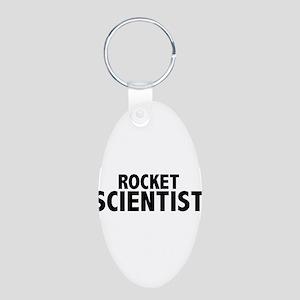 Rocket Scientist Aluminum Oval Keychain