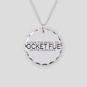 Rocket Fuel Necklace Circle Charm