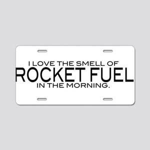 Rocket Fuel Aluminum License Plate