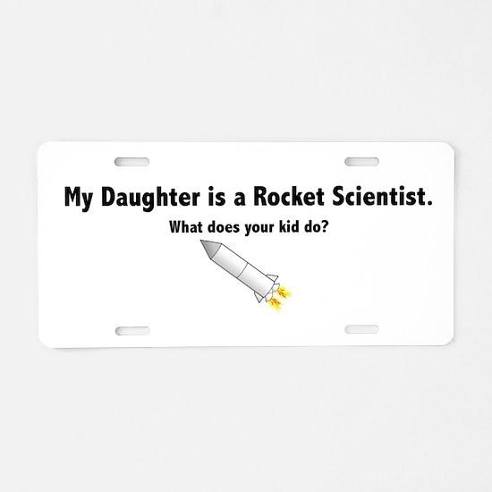Cute Rocket scientist Aluminum License Plate