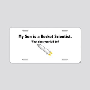Rocket Scientist Son Aluminum License Plate