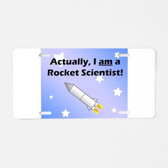 Rocket scientist Aluminum License Plate