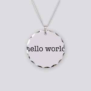 Hello World Necklace Circle Charm