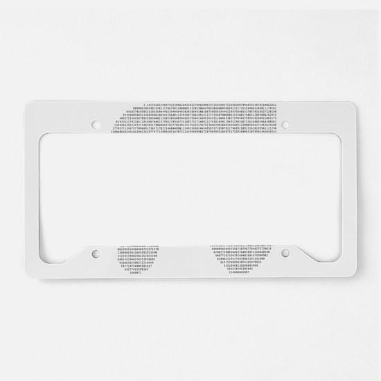 Digits of Pi License Plate Holder