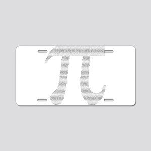 Digits of Pi Aluminum License Plate