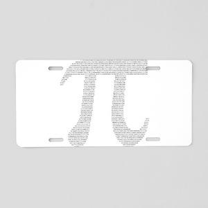 Digits of Pi Aluminum License Plate