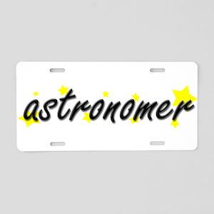 Astronomer Aluminum License Plate
