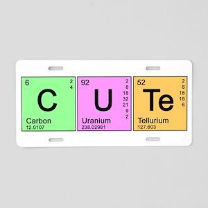 Cute Periodic Aluminum License Plate