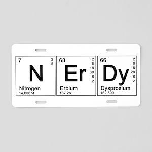 Periodic Nerd Aluminum License Plate