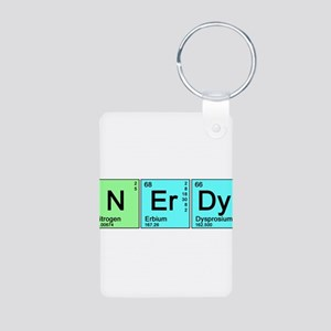 Periodic Nerd Aluminum Photo Keychain