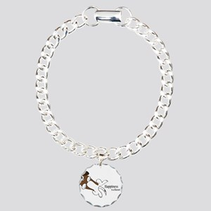 Happiness is a Basset Hound Charm Bracelet, One Ch