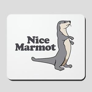 Nice Marmot Mousepad