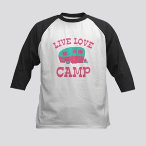 Live Love Camp RV Kids Baseball Jersey
