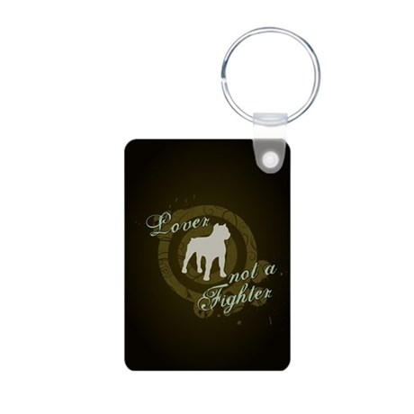 Lover not a Fighter Aluminum Photo Keychain