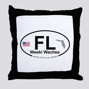 Florida City Throw Pillow