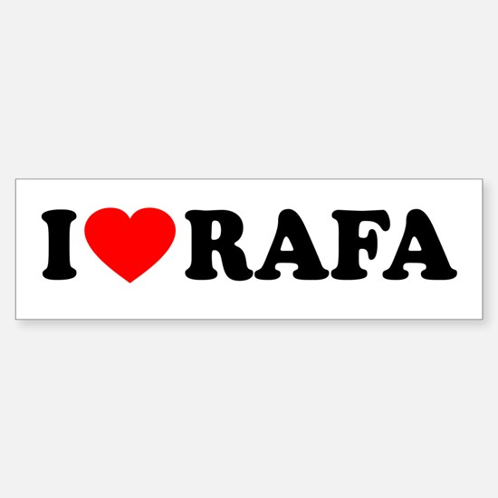 I (Heart) Rafa Sticker (Bumper)