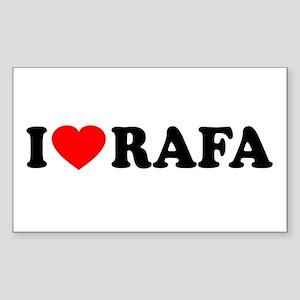 I (Heart) Rafa Sticker (Rectangle)