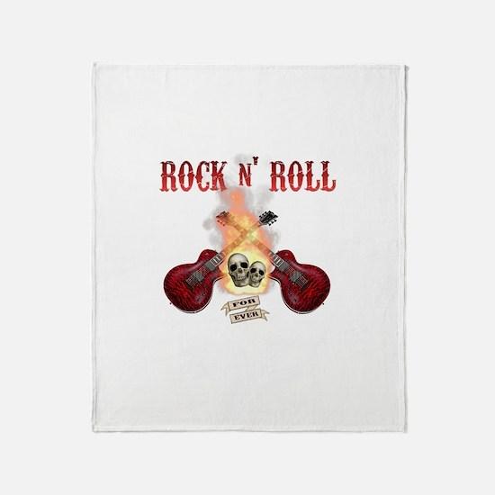Rock n' Roll 4 Ever Throw Blanket