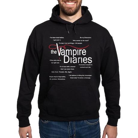 Vampire Diaries Quotes Hoodie (dark)