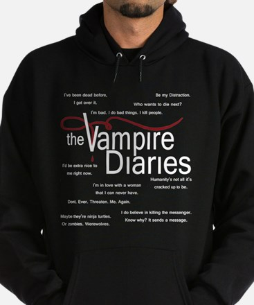 Vampire Diaries Quotes Hoodie (dark)