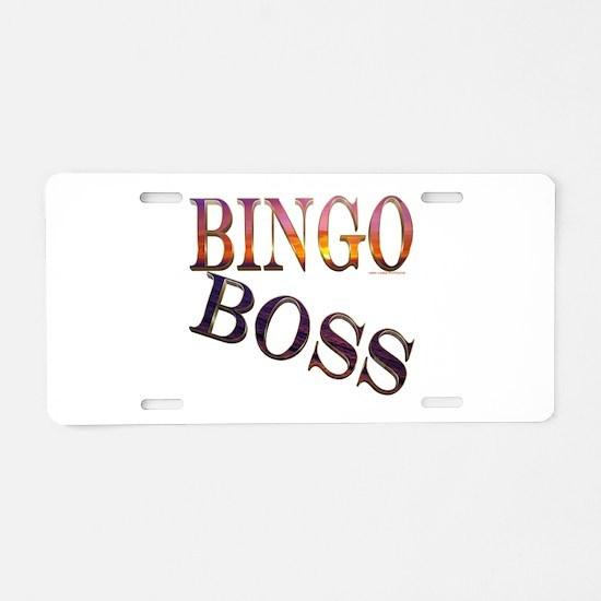 Bingo Boss Engrave MT Aluminum License Plate