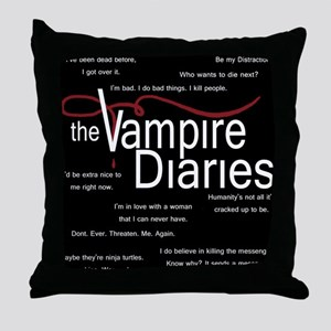 Vampire Diaries Quotes Throw Pillow