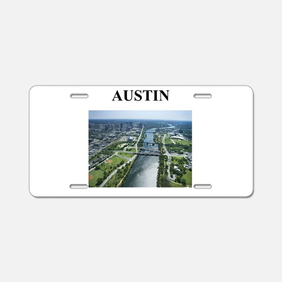 austin gifts and t-shirts! Aluminum License Plate