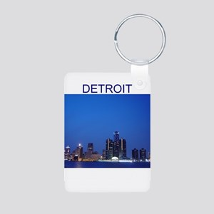detroit Aluminum Photo Keychain