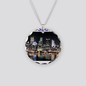 pittsburgh gifts and tee-shir Necklace Circle Char
