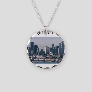QUEBEC Necklace Circle Charm