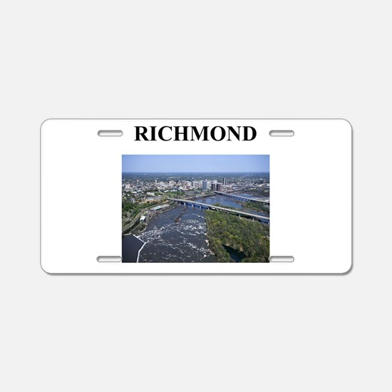 richmond gifts and t-shirts Aluminum License Plate