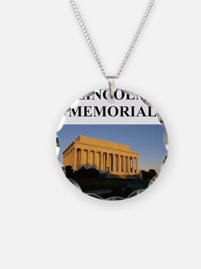 lincoln memorial washington g Necklace
