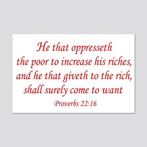 Proverbs 22:16 Mini Poster Print