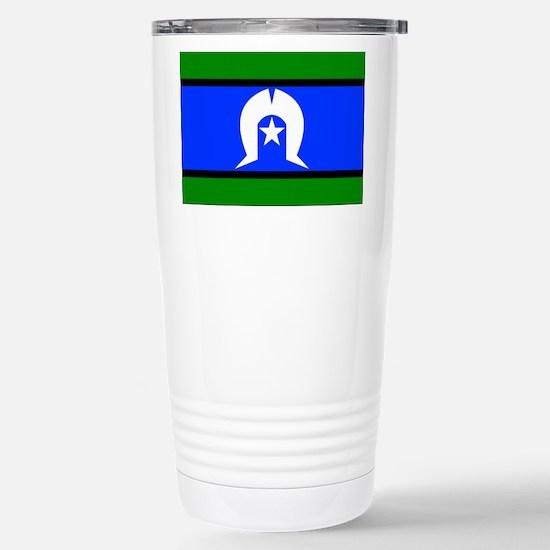 Torres Strait Flag Stainless Steel Travel Mug