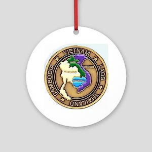 VIETNAM, LAOS, CAMBODIA, THAILAND Ornament (Round)