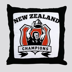 New Zealand Rugby Throw Pillow