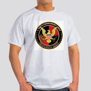 """1 Anti-Terrorist Unit"" - Ash Grey T-Shirt"