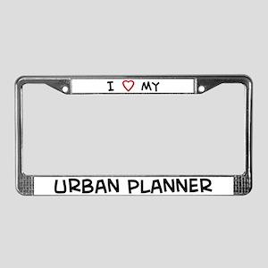 I Love Urban Planner License Plate Frame