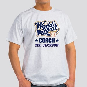 Personalized Baseball Coach Gift T-Shirt