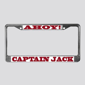 Captain Jack License Plate Frame