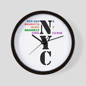 NYC Big Apple All-Stars Wall Clock